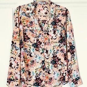 EXPRESS Portofino Floral Button Down Shirt